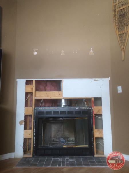 fireplace after demo