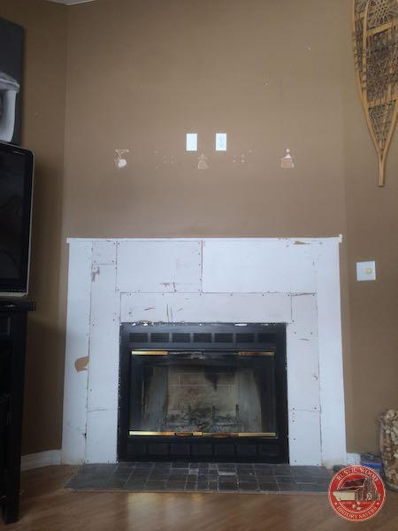 Fireplace ready for reclaimed wood