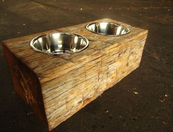 Reclaimed Pet Feeder | Rustic Wood Hub | Bozeman, Belgrade, MT